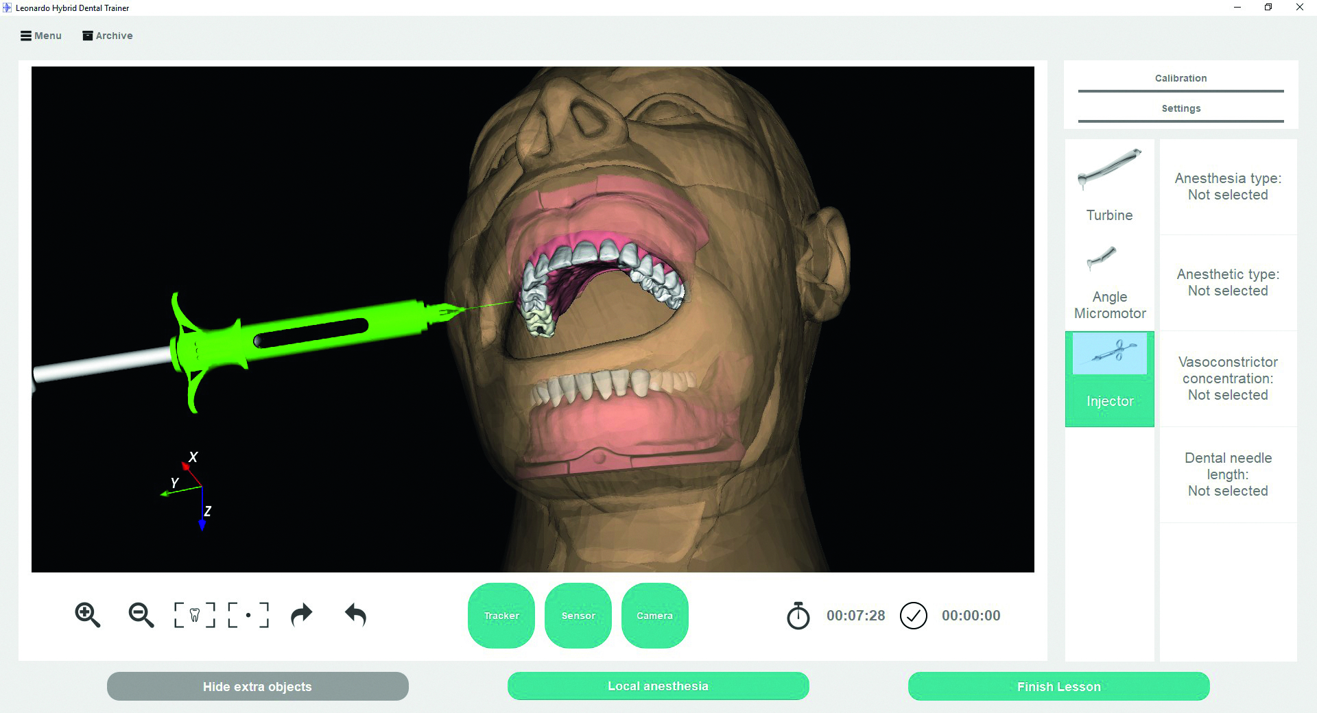 Case Study Hybrid Vr Dental Training Simulator For Education Telephone Wiring Tool Moreover Work Punch Down Extension Geotar Media Screen Interface Showing 6dof Tracking Of