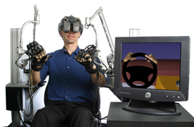 Case Study: FASTRAK used for Position and Orientation Tracking in the VR Haptic Workstation