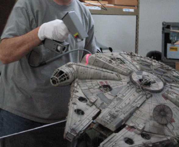 Polhemus FastSCAN used to scan Star Wars models